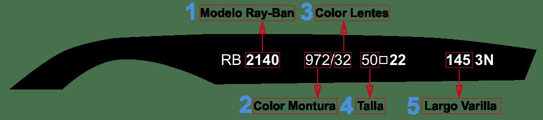 RAY-BAN TEMPLE